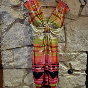 Cache dress size 6 summery colors